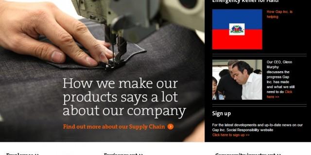 Reklamelækker CSR kommunikation fra modefirmaet GAP
